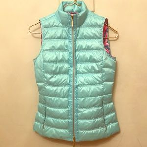 Lilly Pulitzer Feather Light Down Vest XXS